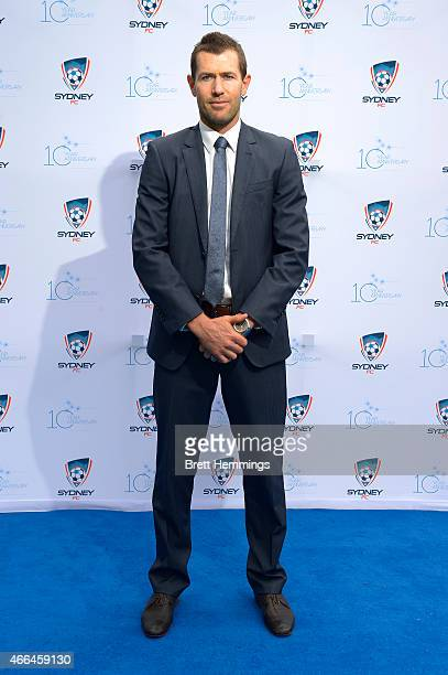 Brett Emerton poses for a photo during the Sydney FC 10 Year Anniversary Lunch at Allianz Stadium on March 16 2015 in Sydney Australia