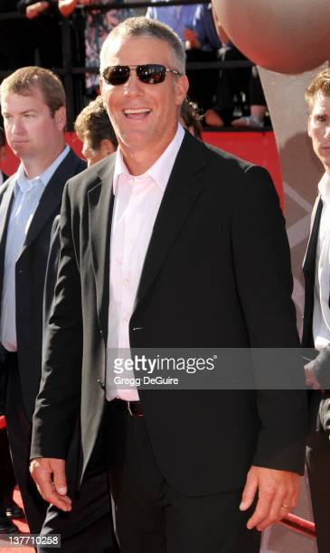 Brett Favre arrives at the 2010 ESPY Awards at the Nokia Theatre LA Live on July 14 2010 in Los Angeles California