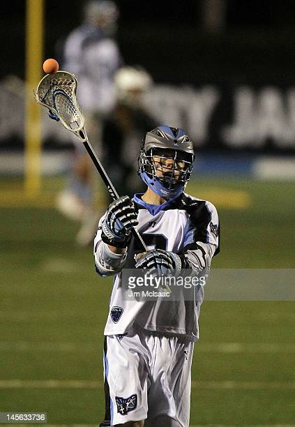 Brett Garber of the Ohio Machine in action against the Long Island Lizards during their Major League Lacrosse game on June 1 2012 at Shuart Stadium...