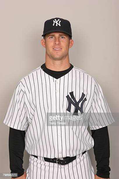 Brett Gardner of the New York Yankees poses for a portrait during photo day at Legends Field on February 21 2008 in Tampa Florida