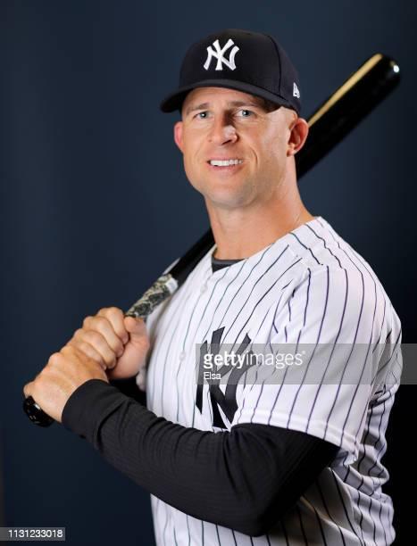 Brett Gardner of the New York Yankees poses for a portrait during the New York Yankees Photo Day on February 21 2019 at George M Steinbrenner Field...