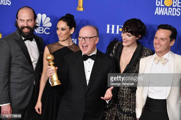 Brett Gelman Sian Clifford Harry Bradbeer Phoebe WallerBridge and Andrew Scott pose in the press room during the 77th Annual Golden Globe Awards at...