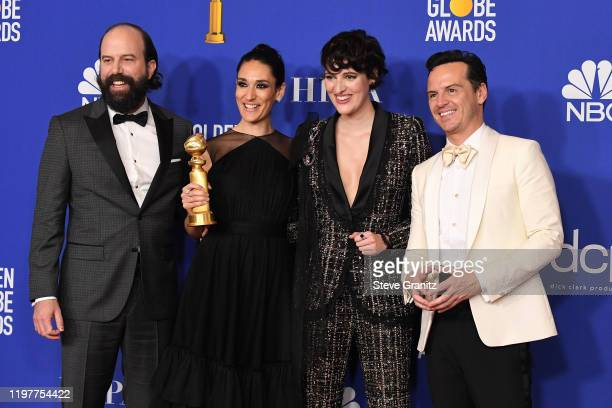 Brett Gelman Sian Clifford Phoebe WallerBridge and Andrew Scott pose in the press room during the 77th Annual Golden Globe Awards at The Beverly...