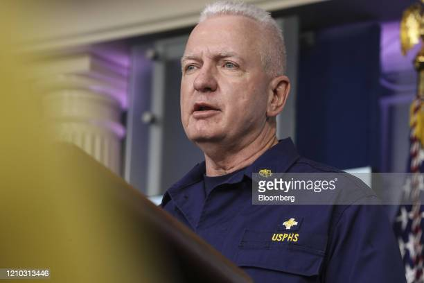 Brett Giroir US assistant secretary for health speaks during a news conference at the White House in Washington DC US on Friday April 17 2020...