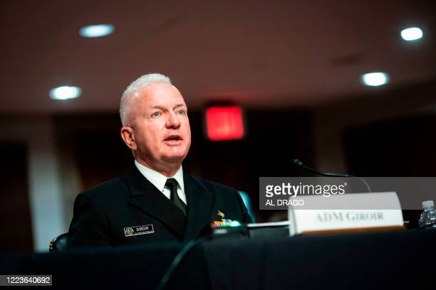 Brett Giroir US assistant secretary for health speaks during the Senate Health Education Labor and Pensions Committee hearing on Capitol Hill in...
