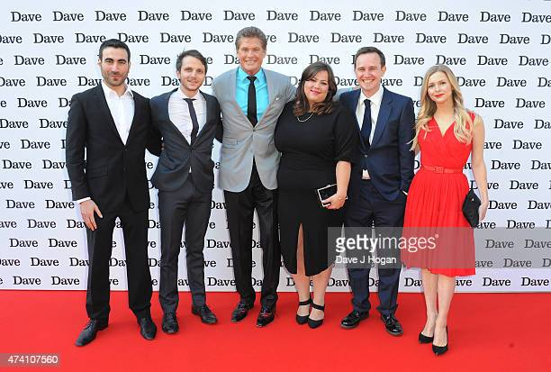 "Brett Goldstein, Mark Quartley, David Hasselhoff, Ella Smith, Fergus Craig and Miranda Hennessey attend the UK screening of ""Hoff The Record"" at The..."