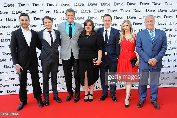 "Brett Goldstein, Mark Quartley, David Hasselhoff, Ella Smith, Fergus Craig, Miranda Hennessey and Simon Greenall attend the UK screening of ""Hoff The..."