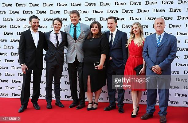 "Brett Goldstein, Mark Quartley, David Hasselhoff, Ella Smith, Fergus Craig, Miranda Hennesssy and Simon Greenall attend the UK screening of ""Hoff The..."