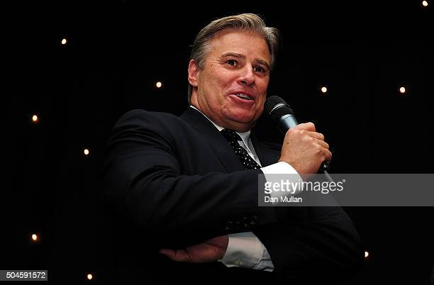 Brett Gosper CEO of World Rugby speaks during the Rugby Union Writers' Club Annual Dinner Awards on January 12 2016 in London England