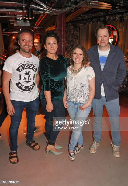 Brett Graham Grace Dent Sally Abe and Tom Parker Bowles attend the MEATliquor party for the Evening Standard's London Food Month on June 4 2017 in...