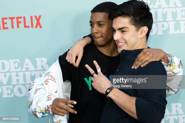 Brett Gray and Diego Tinoco attend the Dear White People Season 2 Special Screening on May 2 2018 in Hollywood California