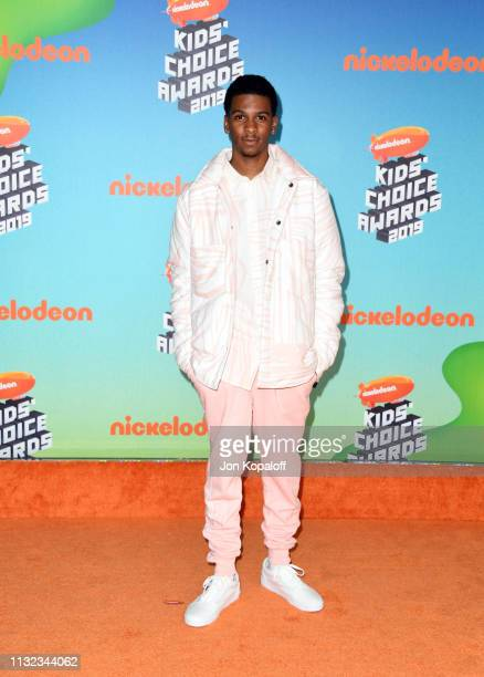 Brett Gray attends Nickelodeon's 2019 Kids' Choice Awards at Galen Center on March 23 2019 in Los Angeles California