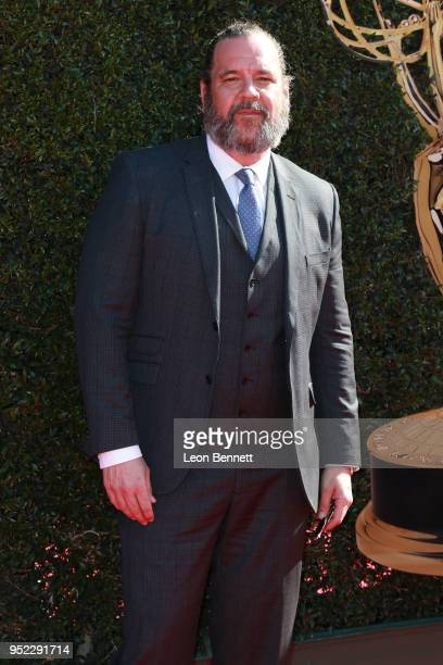 Brett Hall attends the 45th Annual Daytime Creative Arts Emmy Awards Arrivals at Pasadena Civic Auditorium on April 27 2018 in Pasadena California