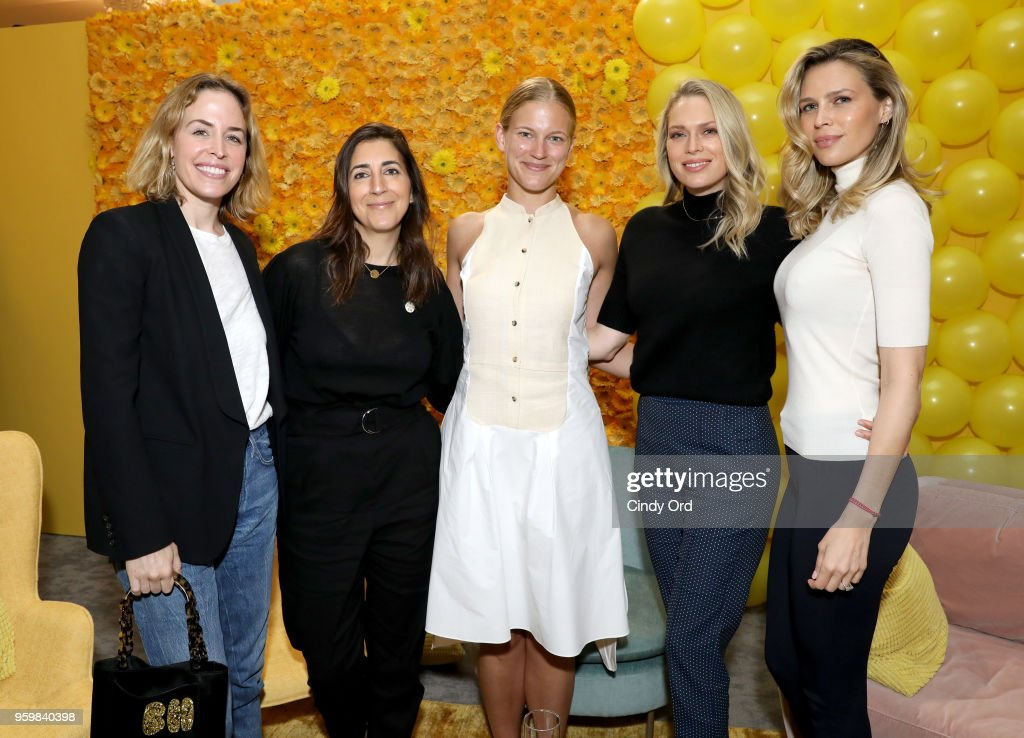 Brett Heyman, Andrea Lieberman, Andee Olson, Erin Foster and Sara Foster attend a panel discussion on power dressing with Bumble's Sara & Erin Foster and designer Andrea Lieberman hosted by Saks at Saks Fifth Avenue on May 18, 2018 in New York City.