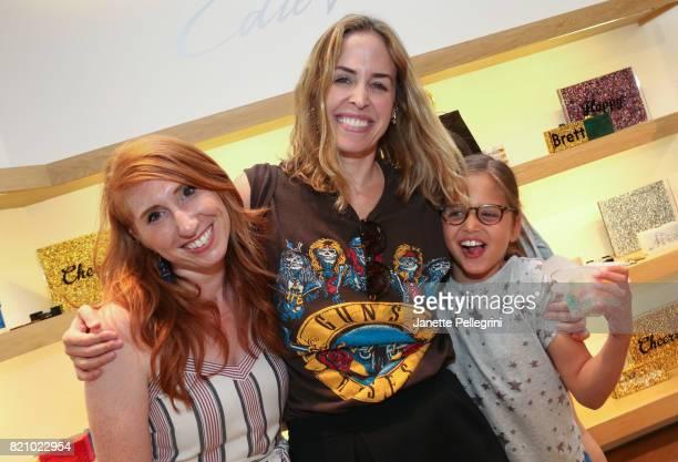 Brett Heyman Edie Heyman and Alyssa Goss attend an Edie Parker PopUp at Intermix hosted by EditorinChief Samantha Yanks and Designer Brett Heyman on...