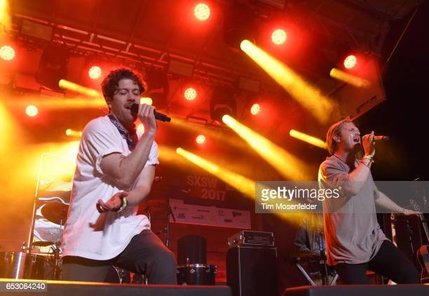 Brett Hite and James Sunderland of Frenship perform at the Pandora Night Party during the 2017 SXSW Conference And Festivals on March 13 2017 in...