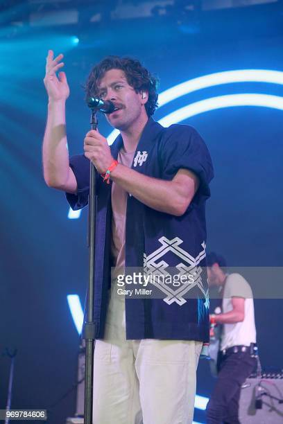 Brett Hite of Frenship performs in concert during the Bonnaroo Music And Arts Festival on June 7 2018 in Manchester Tennessee