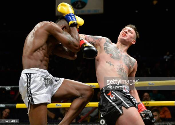 Brett Hlavacek takes on Elijah Clarke in a North American Light Heavyweight Title bout on February 3 2018 at Lion Fight 40 at the Fox Theater of...