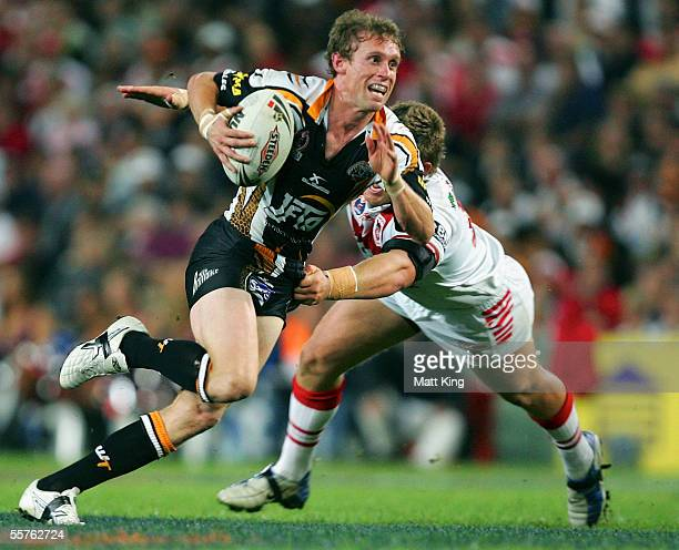 Brett Hodgson of the Tigers in action during the NRL Preliminary Final between the St George Illawarrra Dragons and Wests Tigers at Aussie Stadium on...