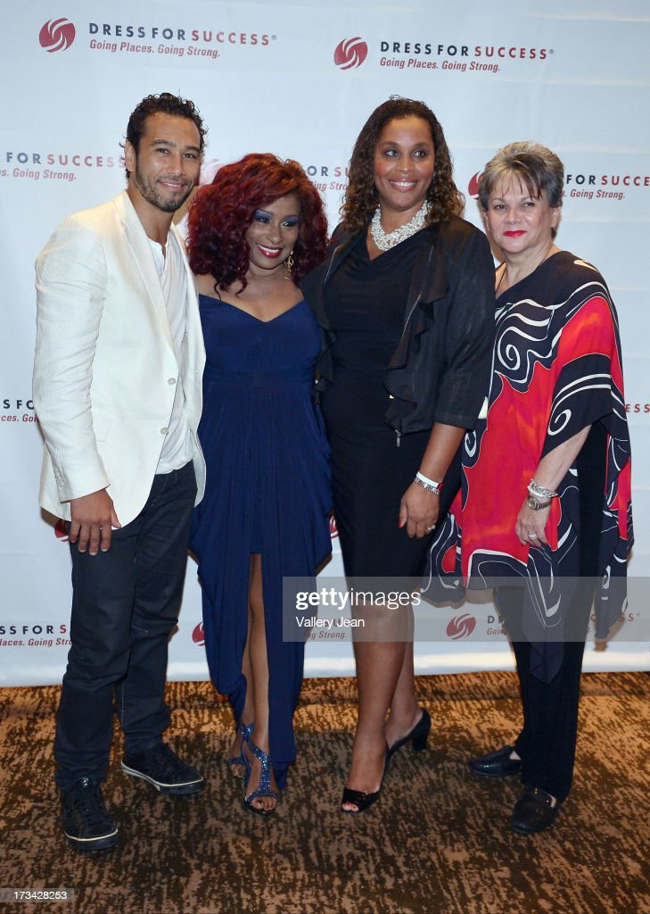 Brett Hoebel, Chaka Khan, Joi Gordon and Sonia Jacobson attend The 9th Annual Success Summit hosted by Dress For Success Worldwide at Epic Hotel on July 13, 2013 in Miami, Florida.