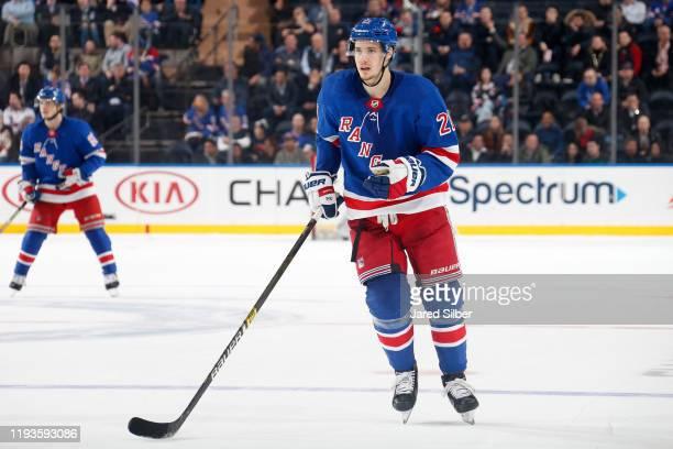 Brett Howden of the New York Rangers skates against the New York Islanders at Madison Square Garden on January 13, 2020 in New York City.