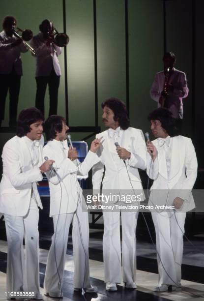 Brett Hudson Sonny Bono Mark Hudson Bill Hudson the Hudson Brothers appearing on the ABC tv series 'The Sonny Comedy Revue'