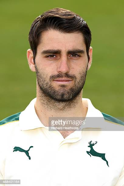 Brett Hutton during the Nottinghamshire County Cricket Photocall at Trent Bridge on April 2 2015 in Nottingham England