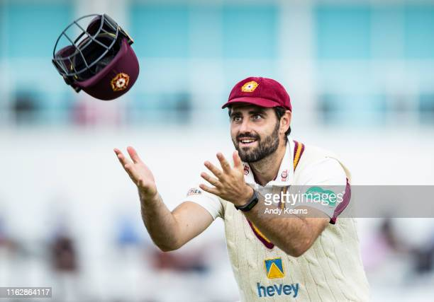 Brett Hutton of Northamptonshire during the Specsavers County Championship division two match between Northamptonshire and Worcestershire at The...