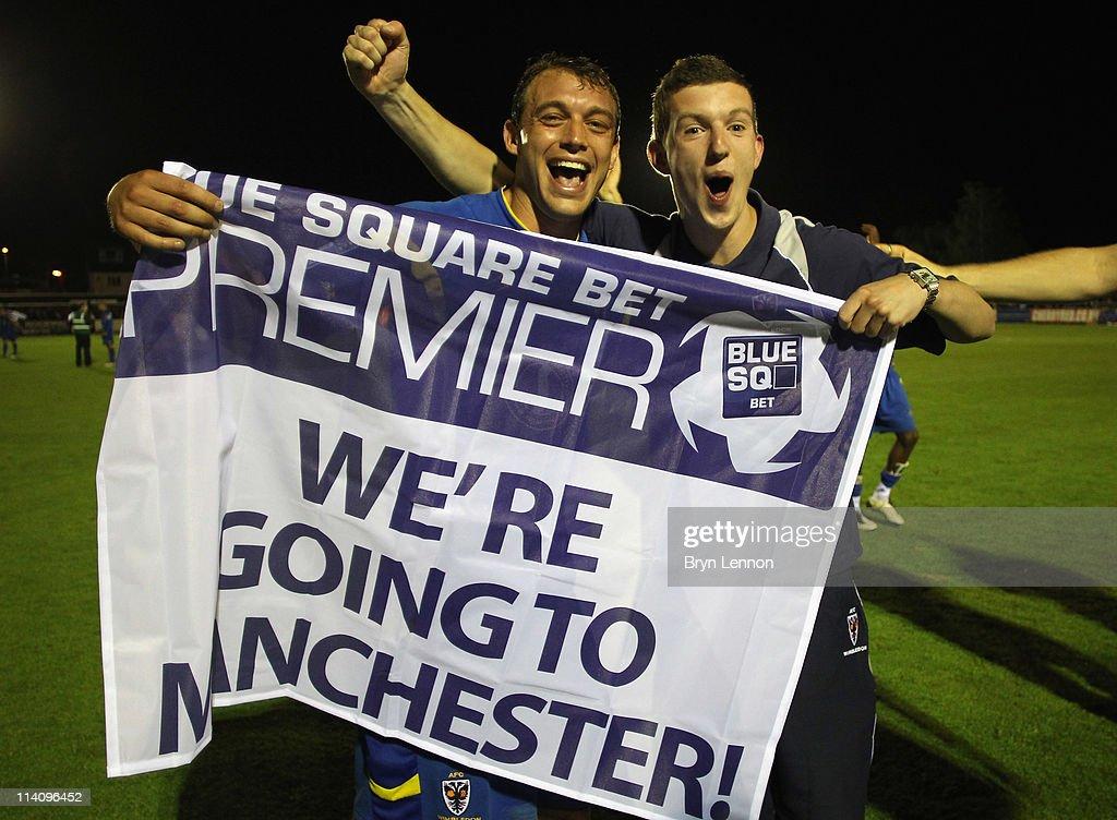 AFC Wimbledon v Fleetwood Town - Blue Square Bet Premier League Play Off Semi Final Second Leg : News Photo
