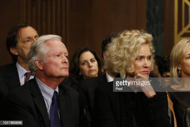 Brett Kavanaugh speaks as his father and mother listen at the Senate Judiciary Committee hearing on the nomination of Brett Kavanaugh to be an...