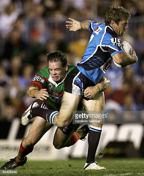 Brett Kimmorley of the Sharks in action during the Round 26 NRL match between the Cronulla Sutherland Sharks and the South Sydney Rabbitohs at Toyota...