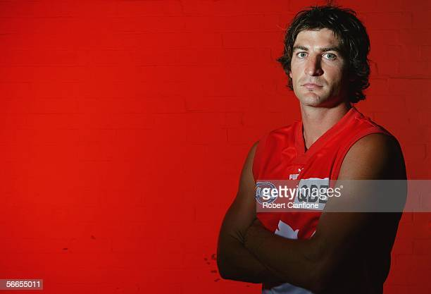 Brett Kirk of the Sydney Swans poses for a portrait during the Sydney Swans Team Photo Shoot at the SCG January 24, 2006 in Sydney, Australia.