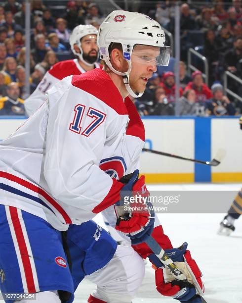 633741da5 Brett Kulak of the Montreal Canadiens skates during an NHL game against the Buffalo  Sabres on