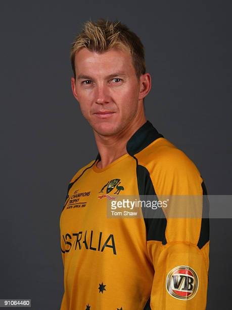 Brett Lee of Australia during the Australian team portrait session on September 23 2009 in Johannesburg South Africa