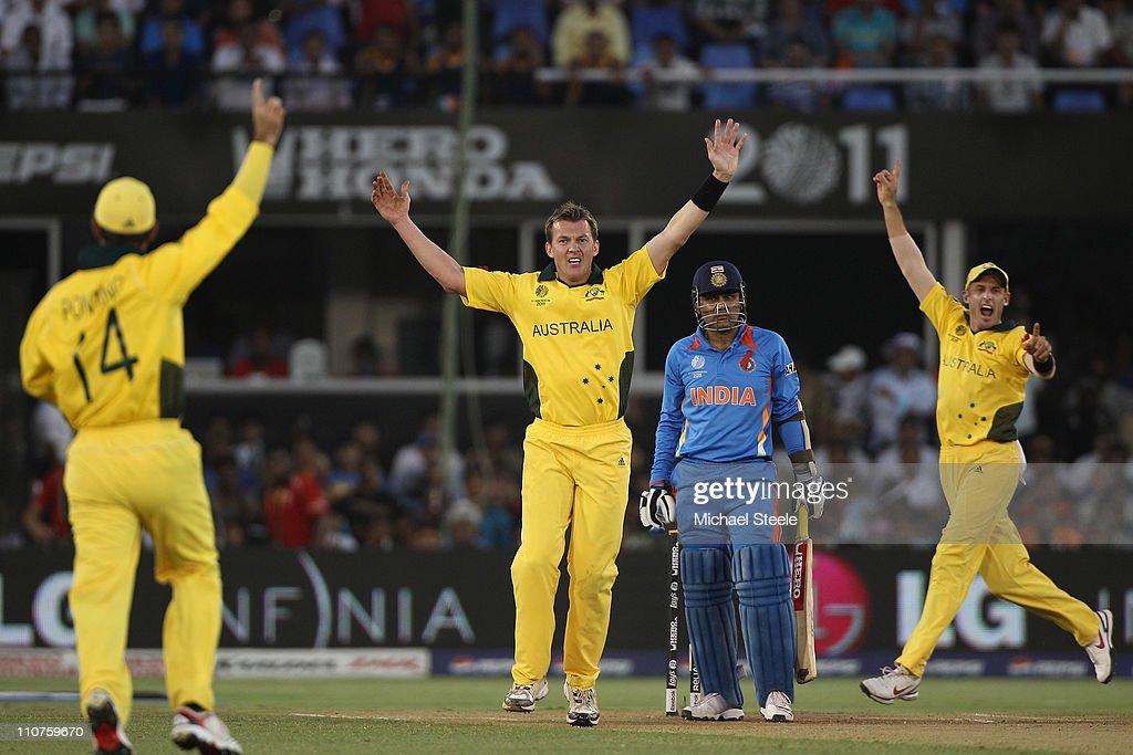 Australia v India - 2011 ICC World Cup Quarter-Final : News Photo