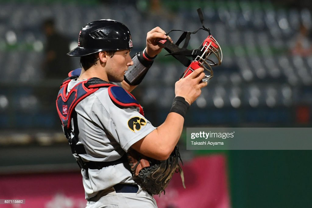 Brett Mc Cleary #32 of of United States looks on during the Baseball Group B match between United States and Russia during day three of the 29th Summer Universiade Taipei at the Xinzhuang Baseball Stadium on August 22, 2017 in Taipei, Taiwan.