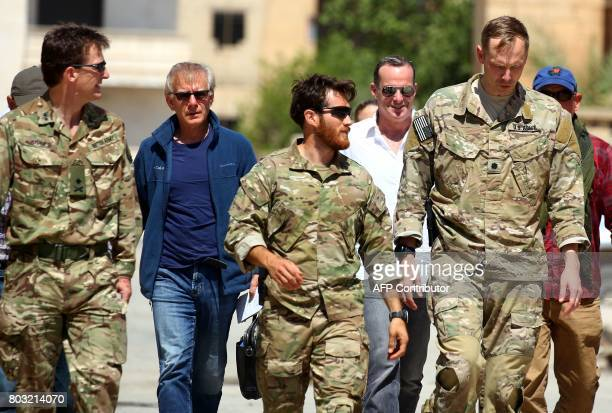 Brett McGurk US special Presidential Envoy for the Global Coalition to Counter IS and Rupert Jones deputy commander of Combined Joint Task Force...