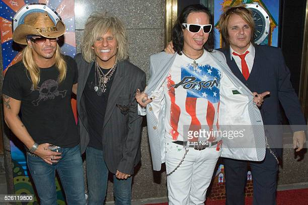 Brett Michaels and Poison attend the '63rd Annual Tony Awards' at Radio City Music Hall in New York City