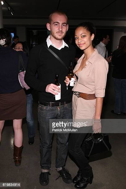 Brett Moen and Heather Gil attend A Milk Gallery Project Presents Hunter Barnes The People at Milk Gallery on October 2 2008 in New York City