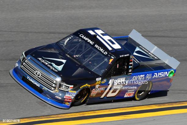 Brett Moffitt Hattori Racing Enterprises AISIN GROUP Toyota Tundra during practice for the NextEra Energy Resources 250 NASCAR Camping World Truck...