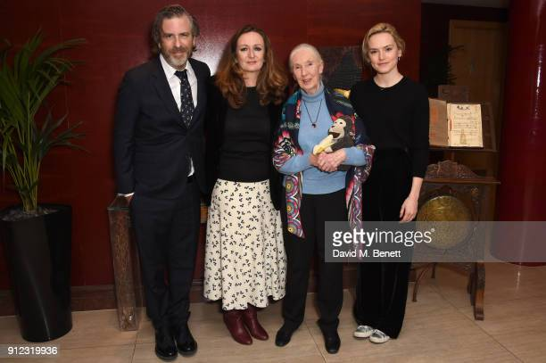 Brett Morgen Lucy Yeoman Jane Goodall and Daisy Ridley arrive at Porter Magazine's 'Incredible Women Talk' with Dr Jane Goodall to celebrate the...