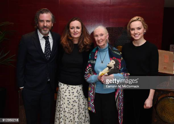 Brett Morgen Lucy Yeomans Dr Jane Goodall and Daisy Ridley at PORTERÕs Incredible Women Talk followed by a screening of the BAFTA nominated Jane in...