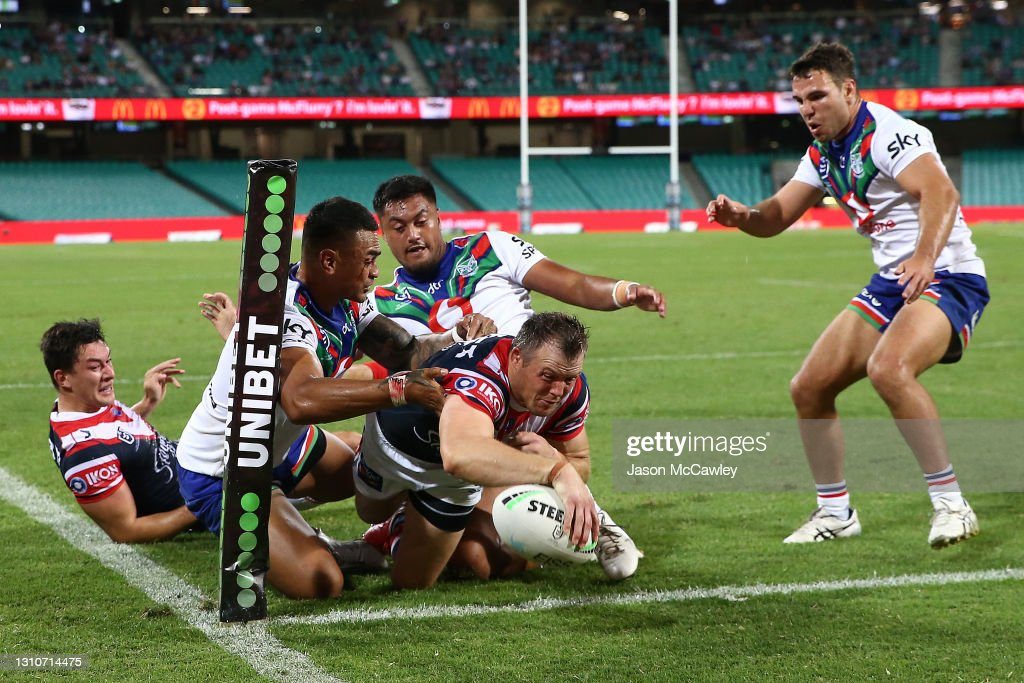 NRL Rd 4 - Roosters v Warriors : News Photo