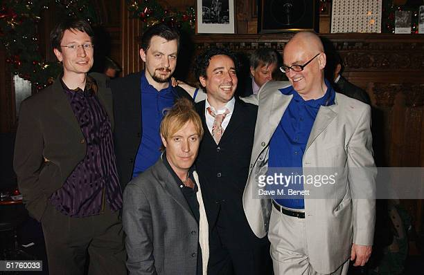 Brett O'Gorman Alan Cox with actors Daphne Cheung Rhys Ifans Aidan McArdle and writer Terry Johnson attend a screening of biopic 'Not Only But...