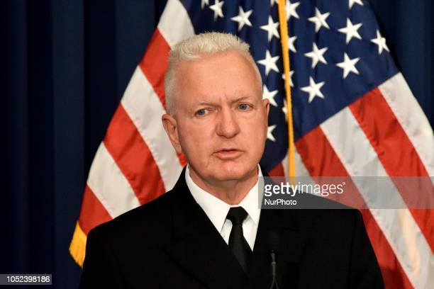 ADM Brett P Giroir MD Assistant Secretary for Health amp Senior Advisor for Opioid Policy speaks at the conference on Neonatal Abstinence Syndrome at...