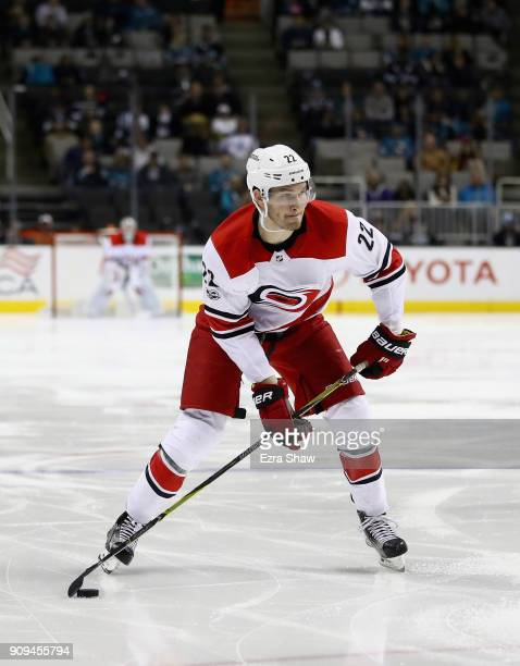 Brett Pesce of the Carolina Hurricanes in action against the San Jose Sharks at SAP Center on December 7 2017 in San Jose California