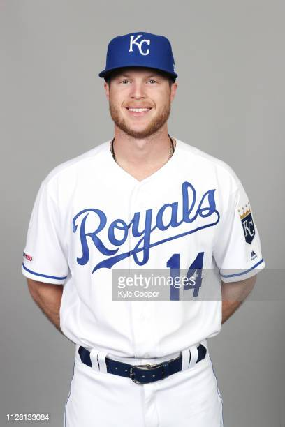 Brett Phillips of the Kansas City Royals poses during Photo Day on Thursday February 21 2019 at Surprise Stadium in Surprise Arizona