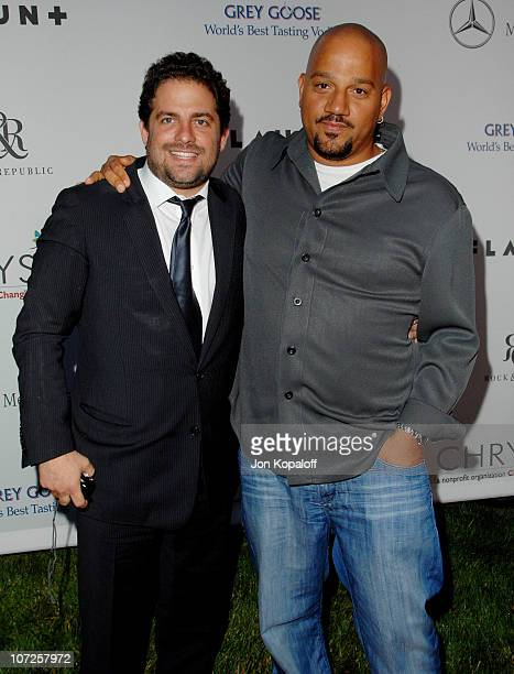 Brett Ratner and Albert Hughes during Sixth Annual Chrysalis Butterfly Ball - Arrivals at Home of Susan Harris & Hayward Kaiser in Mandeville Canyon,...