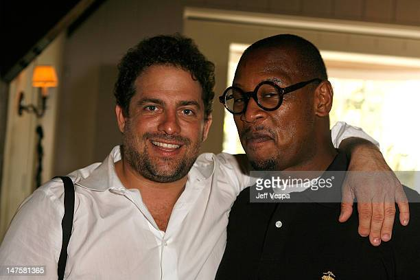 Brett Ratner and Andre Hurrell attend Jurlique's Biodynamic BBQ hosted by Brett Ratner at Hilhaven Lodge on July 26 2008 in Los Angeles California