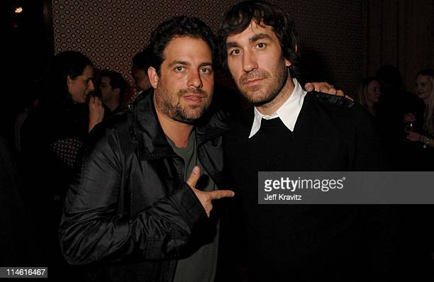 Brett Ratner and Brent Bolthouse during 'Entourage' Third Season Premiere in Los Angeles After Party in Los Angeles California United States
